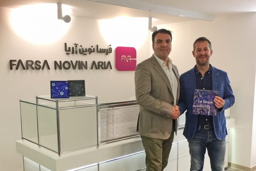 A new partnership for Forme d'Acqua in Tehran, Iran