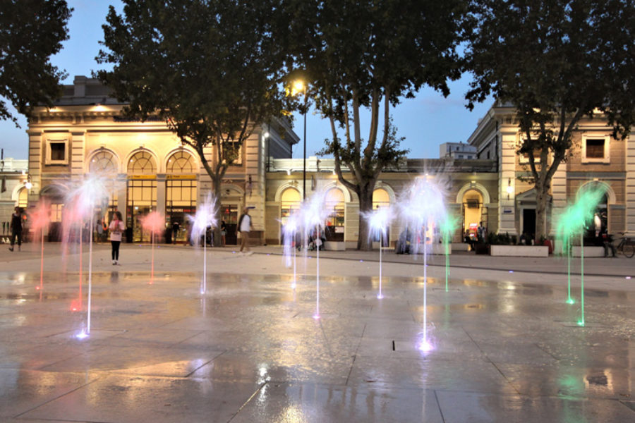 Dry deck fountain – Train Station Square, Rimini