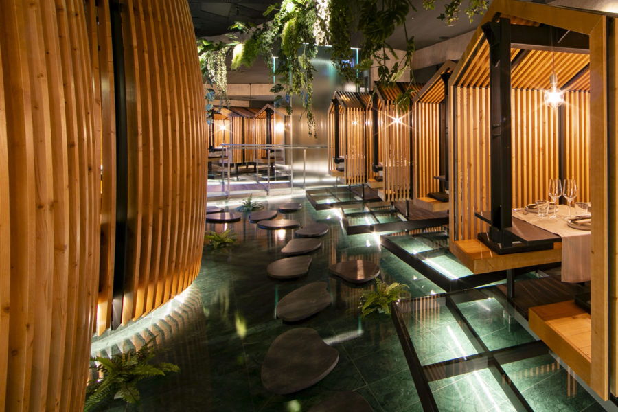 Indoor fountains – Sushizero Restaurant, San Martino Siccomario (PV)