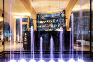 Dynamic fountain – Hotel Arnica, Scuol (Switzerland)