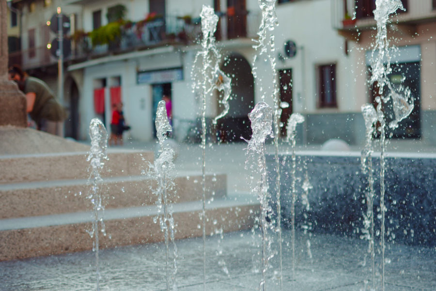 Fontane a pavimento – Piazza Santa Maria, Cameri (NO)